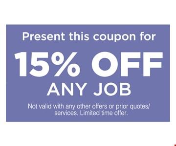 15% any job