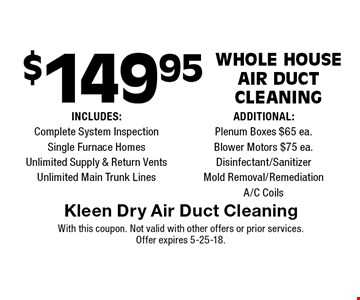 $149.95 Whole House 