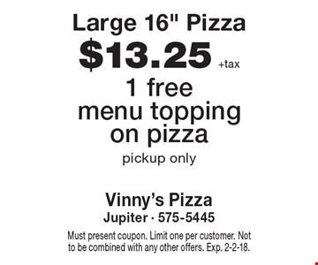 $13.25 +tax Large 16
