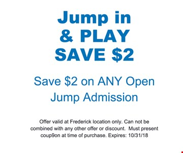 Save $2 on any open jump admission