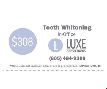 Teeth whitening In -Office $308