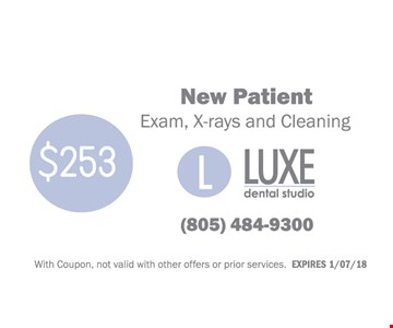 $253 - New Patient - Exam, X-rays and Cleaning