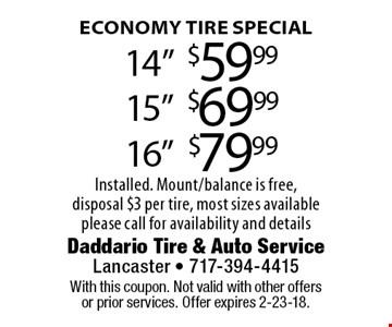 Economy Tire Special 14