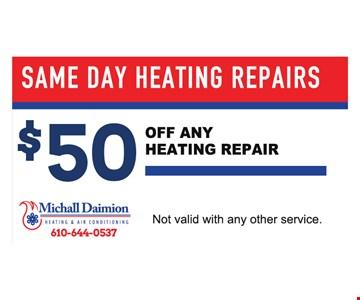 $50 Off Any Heating Repair