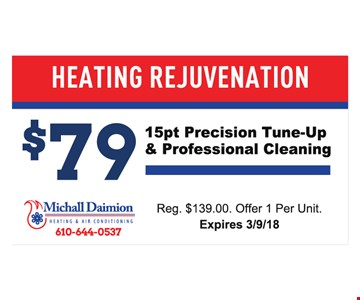 Tune up and cleaning for $79.