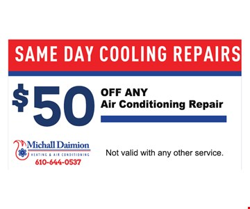 $50 Off any air conditioning repair