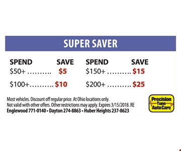Save up to $25.