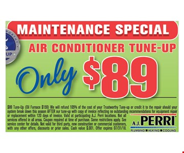 Air conditioner Tune-up Only $89