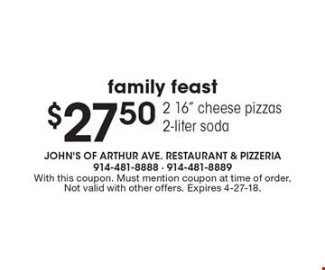 Family Feast $27.50 - 16