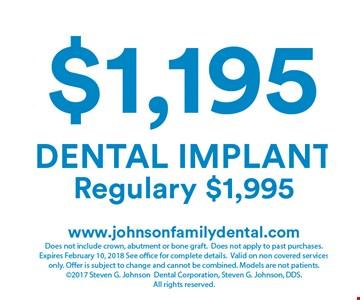 $1,195 dental implant