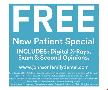 Free New Patient Special Includes Digital X-Rays, Exam & Second Opinions