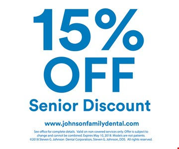 15% off senior discount