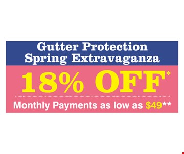 Gutter Protection 18% off