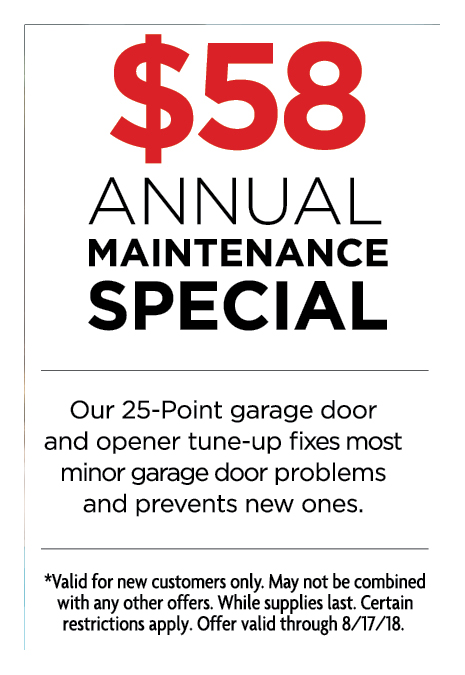 GARAGE DOOR MEDICS: $58 Annual Maintenance Special. Our 25 Point Garage Door  And