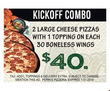 $40 Kickoff Combo