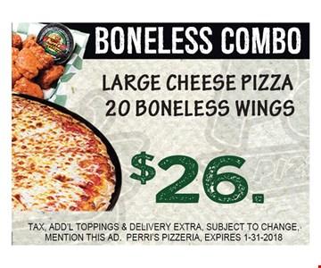 $26 Boneless Combo