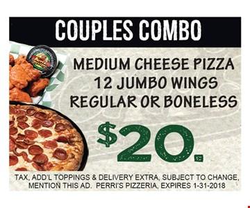 $20 Couples Combo