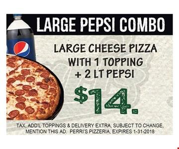 $14 Large Pepsi Combo