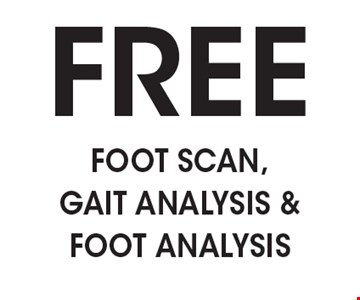 FREE Foot scan, gait analysis & foot analysis.
