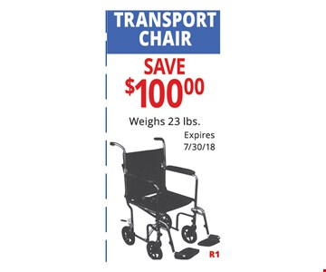 Transport chair save $100