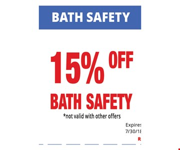 Bath safety 15% off