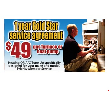 $49 1 year Gold Star service agreement.