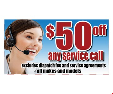 $50 off any service call.