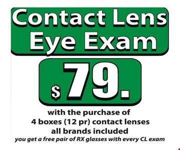 $79 Contact Lens Eye Exam