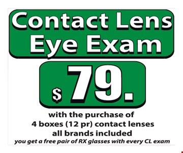Contact lens eye exam $79