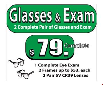 Glasses & exam for $79