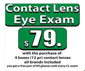 Contact lens eye exam for $79