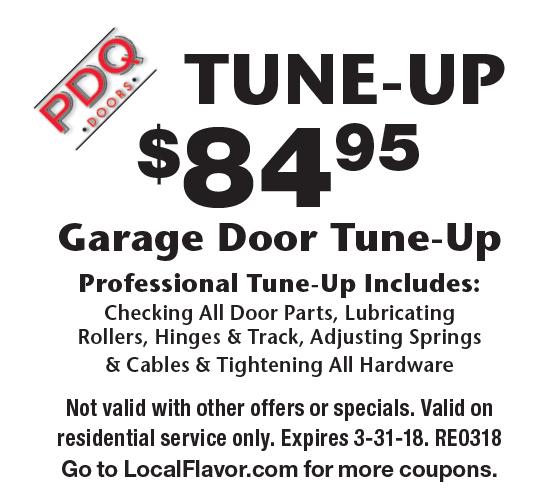 PDQ DOORS Tune-up $84.95 Garage Door Tune-Up. Professional Tune-  sc 1 st  Local Flavor & LocalFlavor.com - PDQ DOORS Coupons