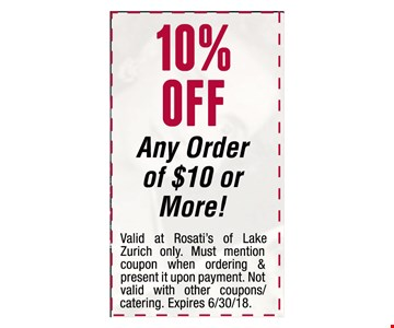 10% Off Any Order of $10 or More!