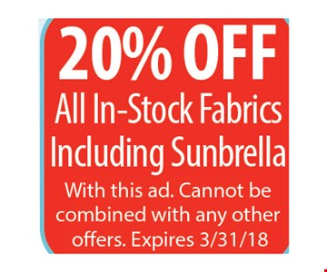 20% Off all in-stock fabrics