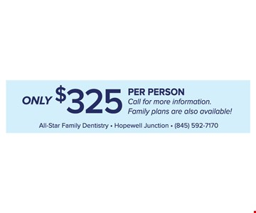 Only $325 Per Person Annual Savings Plan