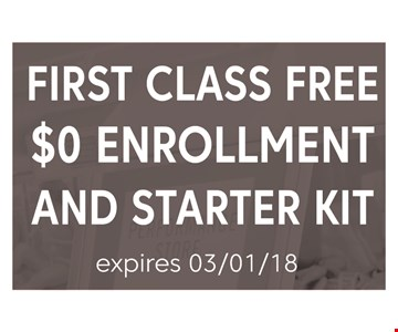 First Class Free Enrollment and Starter Kit