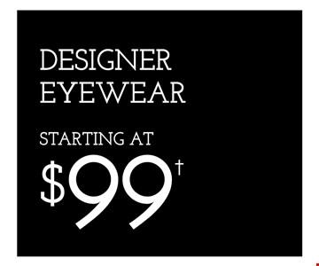 Designer Eyewear Starting At $99