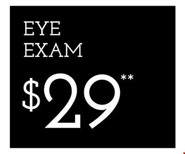 Eye Exam $29