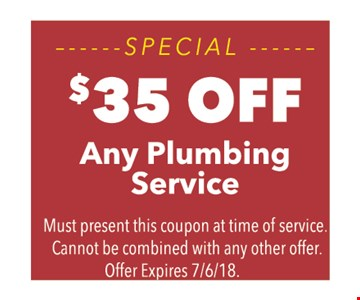 $35 off any plumbing service