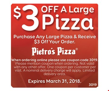 $3 off a large pizza
