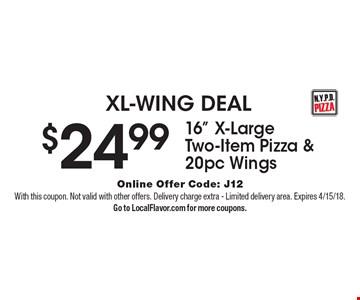 XL-WING DEAL. $24.99 16