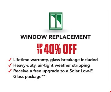 up to 40% off window replacement