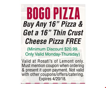Pizza Deal 5 large 16