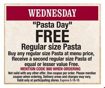 FREE regular sized pasta
