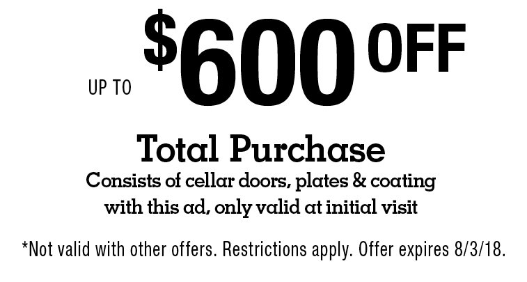 Connecticut Cellar Doors $600OFFUP TO Total Purchase Consists of cellar doors plates u0026  sc 1 st  Local Flavor & LocalFlavor.com - Connecticut Cellar Doors Coupons