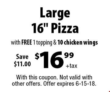 $16.99 +tax Large 16