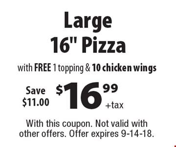 $16.99+tax Large 16