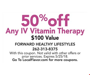 50% off any IV vitamin therapy