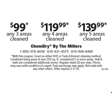 10% off tile & grout clean and seal ($175 minimum). With this coupon. Not valid with anyother services. Offer expires 2-9-18. 053-PRS