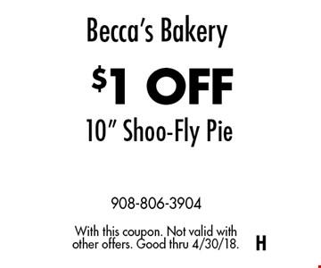 Becca's Bakery $1 OFF 10